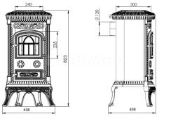 Печь Nordflam Plato Patyna. Фото 2