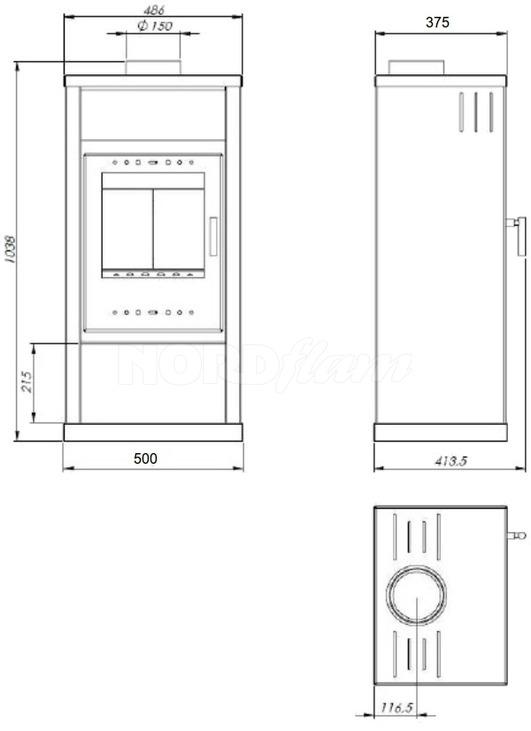 Печь Nordflam Pireus. Фото 2